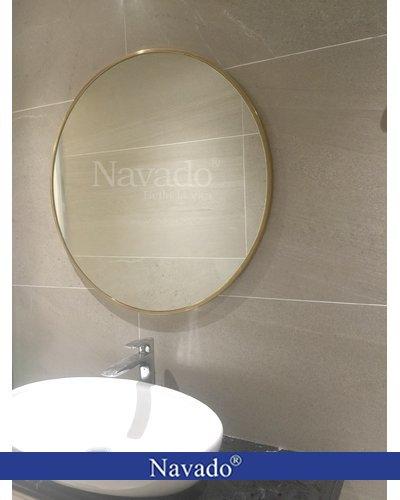 Gương elip phòng tắm mạ vàng gold