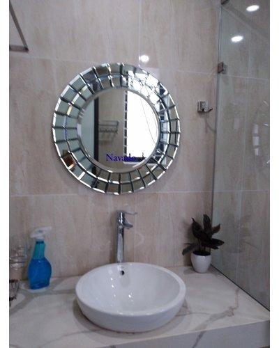 Gương tròn treo tường nghệ thuật the light 60cm