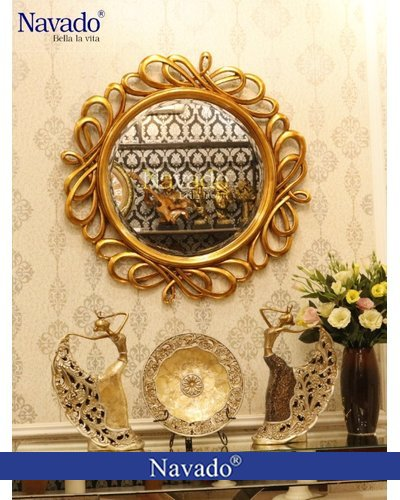 Gương tân cổ điển trang điểm trang trí Hermes