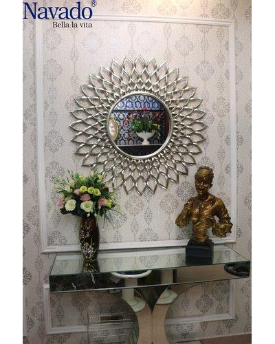 Gương thiết kế nội thất tân cổ điển Electra silver