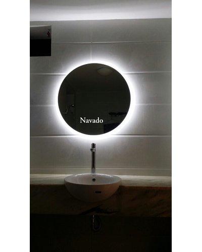 Gương tròn led hắt sáng trắng 60cm