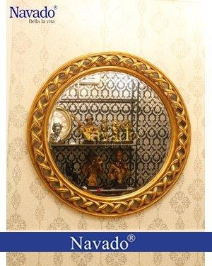 Gương khung vàng cổ điển Helios