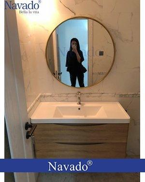 Gương tròn phòng tắm Optima 80cm