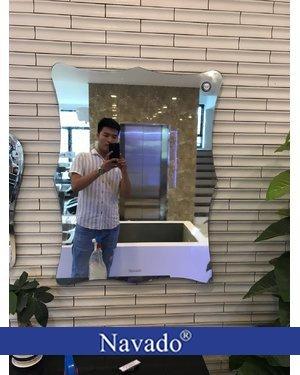 Gương treo tường phòng tắm nghệ thuật Decor NAV105C