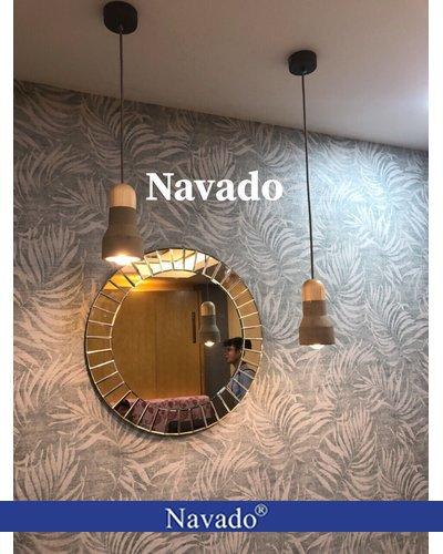 Sản xuất gương trang trí treo tường tròn sun light 80cm