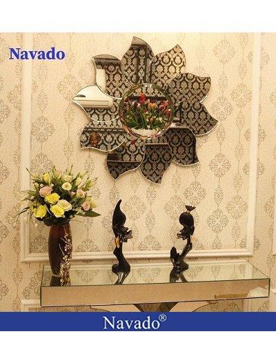 Sản xuất gương treo tường nghệ thuật hoa Peony