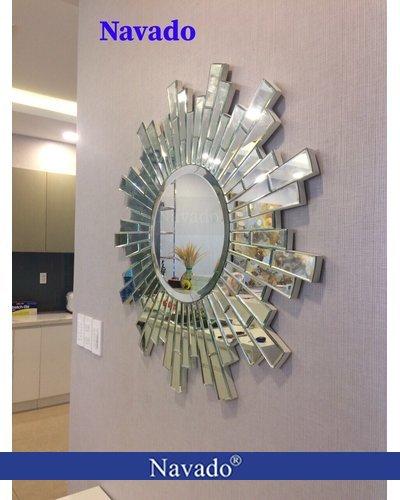 Sản xuất gương soi treo tường phòng khách Tiger 80cm