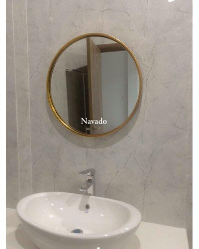 Sản xuất gương phòng tắm tròn decor home 60cm