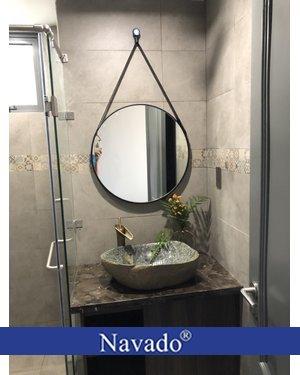Sản xuất gương dây da phòng tắm cao cấp 60cm