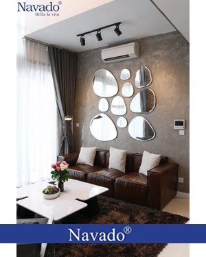 Gương trang trí phòng khách quần đảo