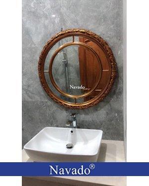 Gương tân cổ điển phòng tắm Aura