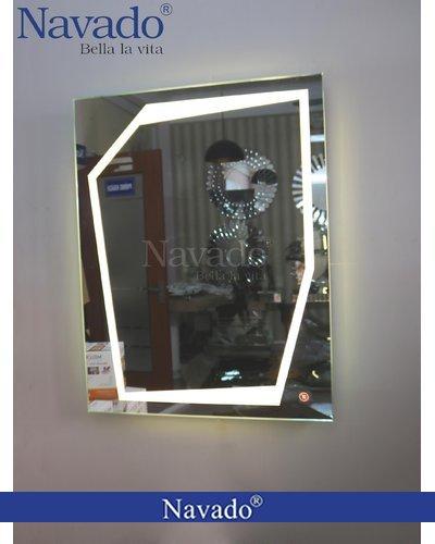 Gương đèn led kiểu cắt góc