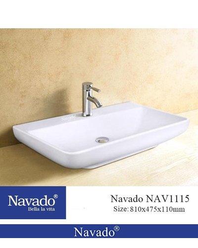 Chậu lavabo phòng tắm sứ nghệ thuật cao cấp NAV 1115