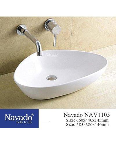 Chậu sứ nghệ thuật phòng tắm sài Gòn NAV 1105