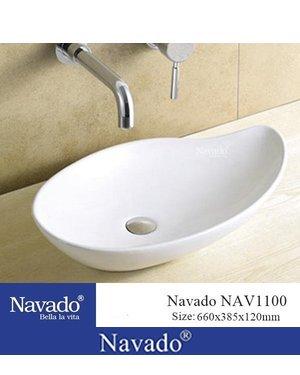 Chậu sứ nghệ thuật cao cấp phòng tắm NAV1100