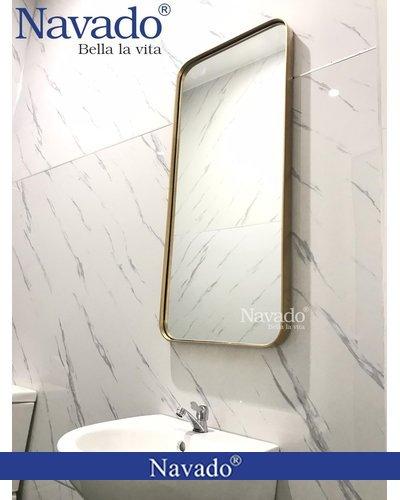 Gương vành inox vàng cho phòng tắm TP.HCM