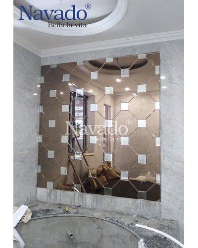 Gương trang trí phòng khách ghép tường tại Kiên Giang