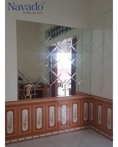 Bán gương ghép tường nghệ thuật phòng khách Sài Gòn
