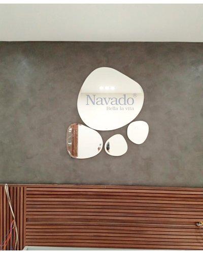 Gương cắt bãi đá phòng khách cho phòng khách cao cấp