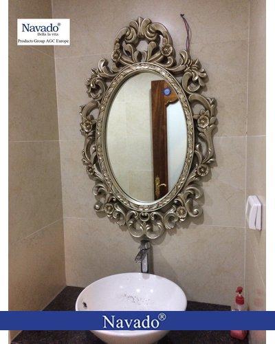 Gương treo tân cổ điển cho phòng tắm nghệ thuật