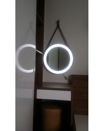 Gương dây da đèn led trang điểm