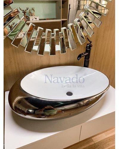 Chậu sứ nghệ thuật phòng tắm cao cấp RS 1171WS