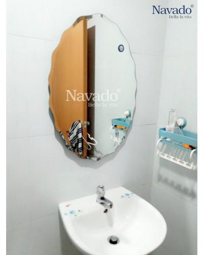 Sản xuất gương bỉ phòng tắm elip mài vẩy Nav542b