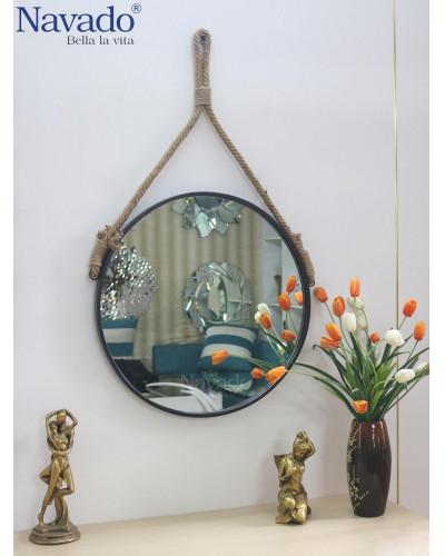 Sản xuất gương phòng tắm dây thừng decor