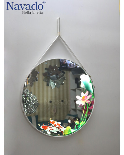 Gương trang điểm nghệ thuật treo tường phòng ngủ
