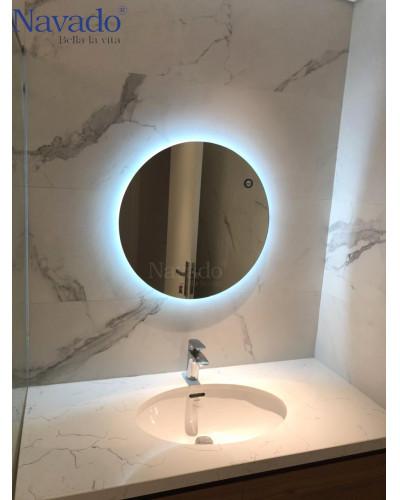 gương phòng tắm tròn hắt sáng