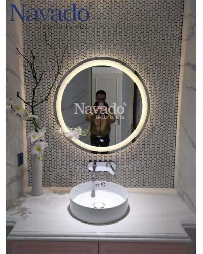 Gương trơn đèn cho phòng tắm phun cát trong 60cm