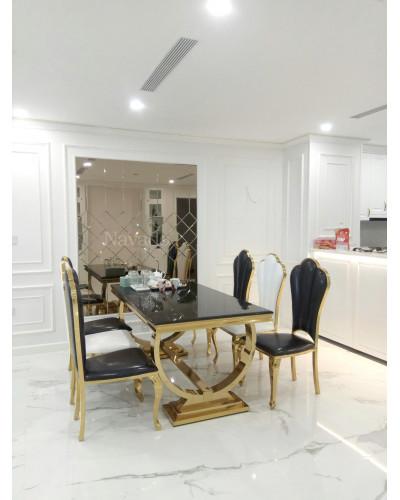 Gương kính màu trà ghép tường nghệ thuật decor phòng khách