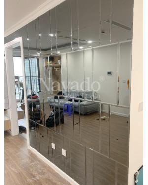 Gương kính Guardian màu xám ghép tường
