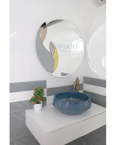 Gương trang trí decor màu cho phòng tắm