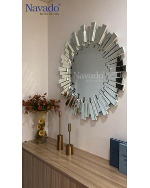 Gương phòng khách đẹp cao cấp Lion 80cm