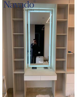 Gương soi toàn thân đèn led phòng ngủ cao cấp