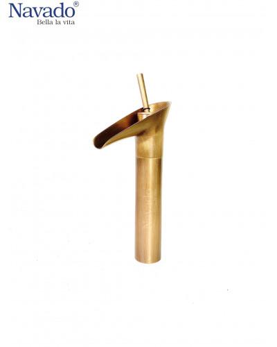 Vòi đồng gắn chậu Lavabo decor cao cấp