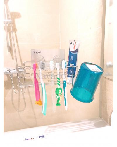 Phụ kiện kệ cốc đánh răng không khoan tường TPHCM