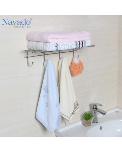 Phụ kiện phòng tắm vắt khăn không khoan tường