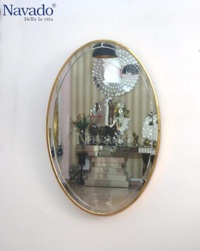 Gương trang điểm decor Saga vàng 700 x 900mm