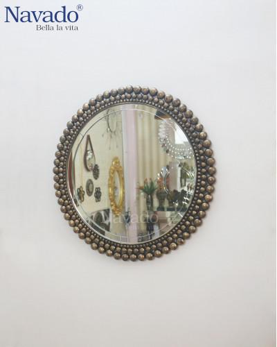 Gương treo tường bàn trang điểm cao cấp phi 80cm