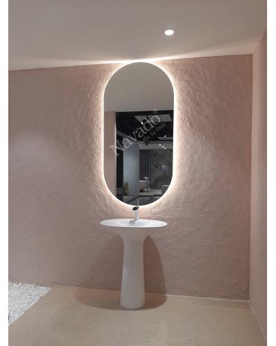 Gương bo tròn 2 đầu đèn led size 1000x600