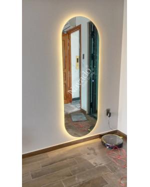 Gương toàn thân bo tròn 2 đầu đèn led size 1600x600