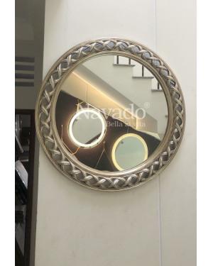Gương tân cổ điển Helios bạc size 100cm