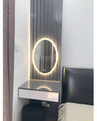 Gương Elip đèn led 700x500