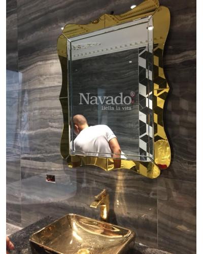 Gương Alantic vàng size 900x600