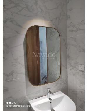 Gương khung inox chữ nhật 700-900