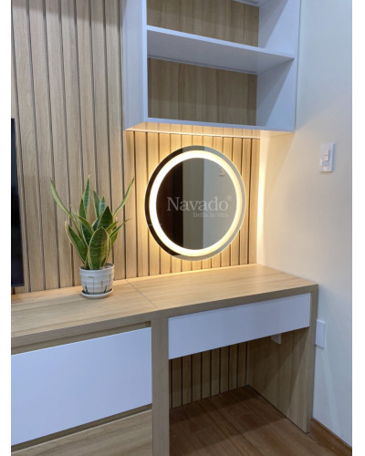 Gương trang điểm đèn led size 60cm