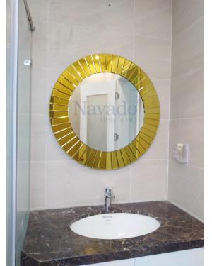 Gương The Sun viền vàng size 80cm