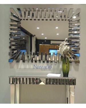 Gương trang trí thuật phòng khách size 600x900